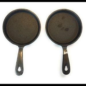 """5"""" iron skillets, set of two, new without tags"""